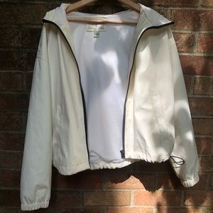 Forever 21 White Rain Jacket